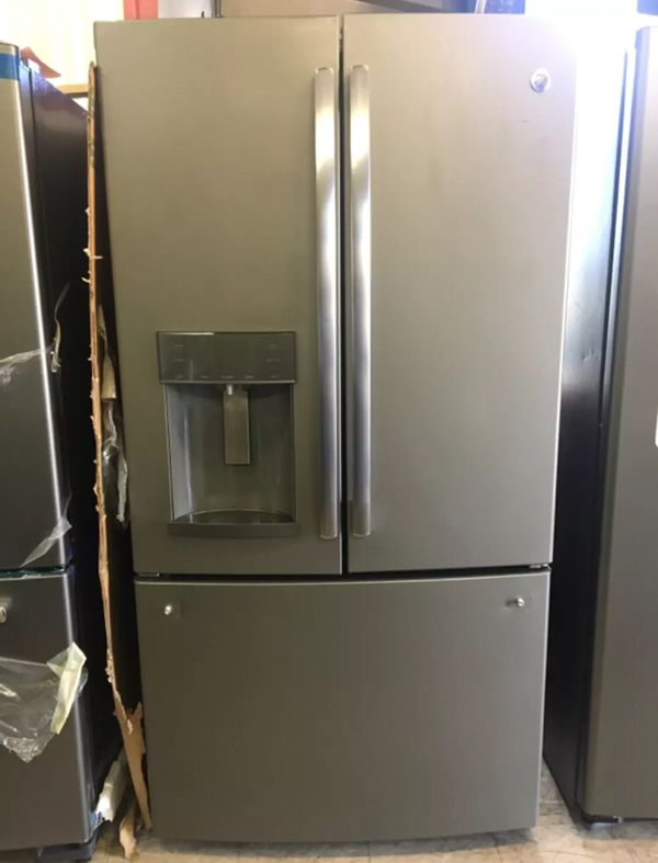 Ge French Door Refrigerator Slate Color Appliances In San Diego