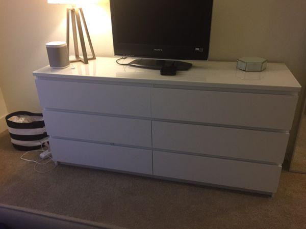 Ikea Malm 6 Drawer Dresser White For