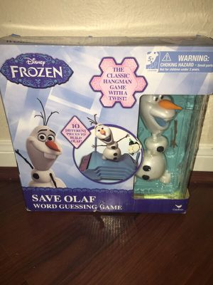 Disney Frozen Save Olaf word guessing game! Brand New! for Sale in Sugar Land, TX