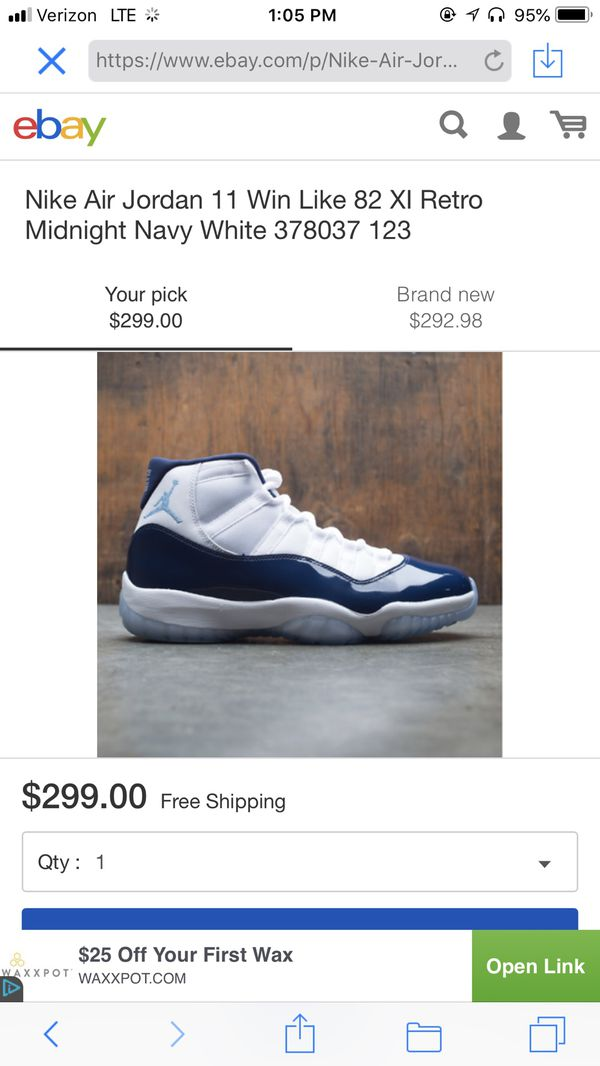 6de075ae2aac1f Nike air Jordan retro win like 82 XI retro size 8 brand new for Sale in ...