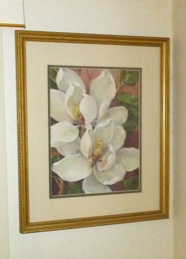 Magnolia Matted Print in Gold Frame (Household) in Gainesville, FL ...