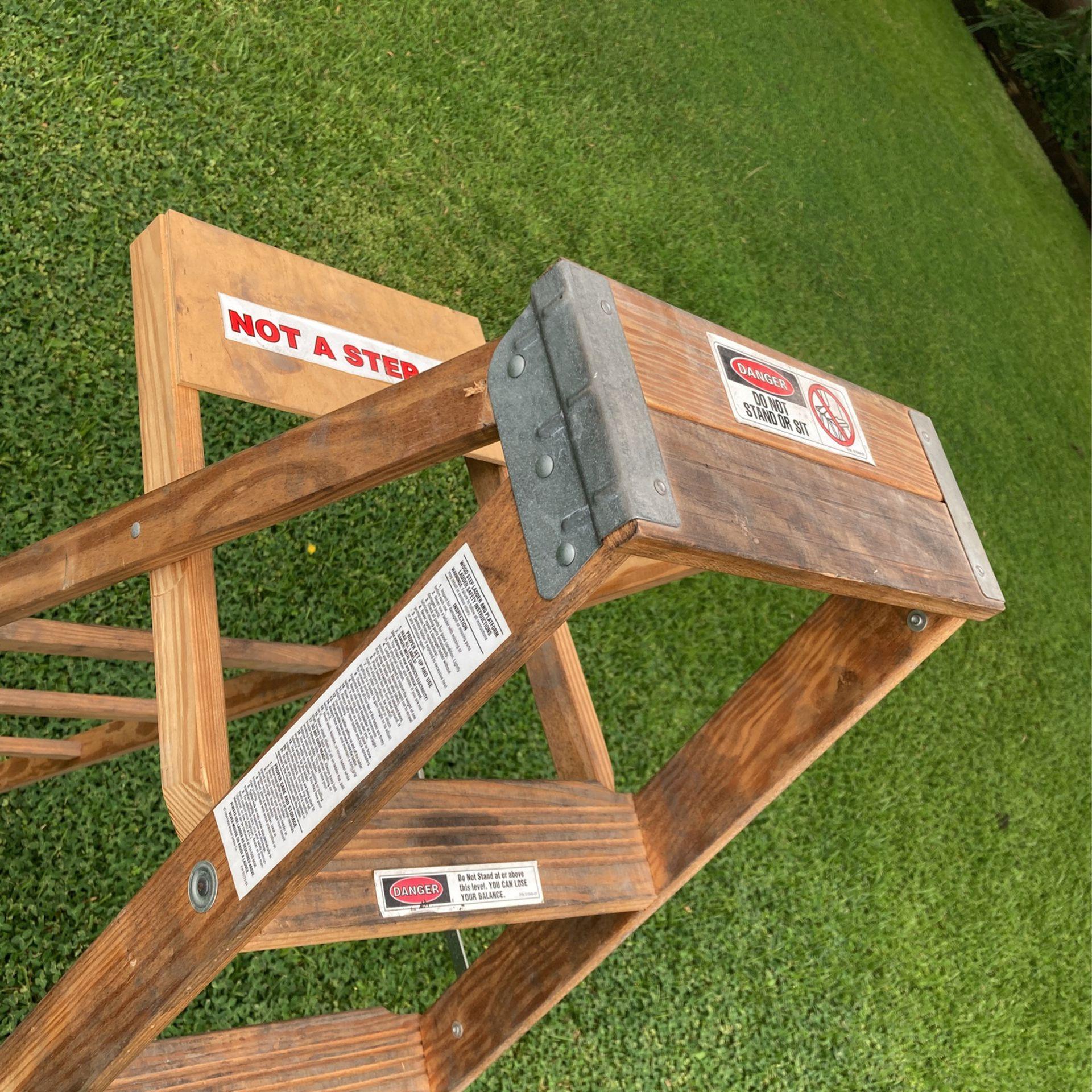 Werner 6 Foot Wood Ladder