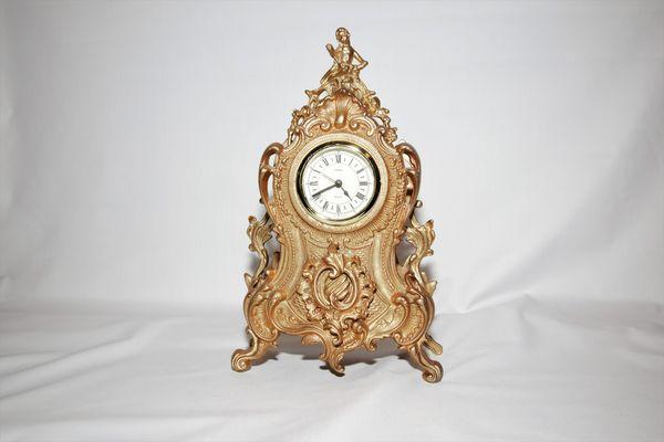 Uranio Br Mantle Clock Antique West Germany