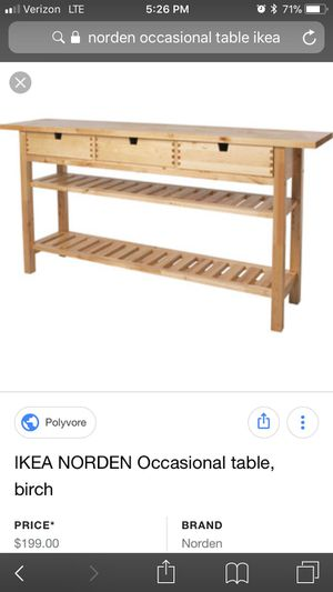 Occasional Table Ikea Norden For Sale In Ventura Ca Offerup