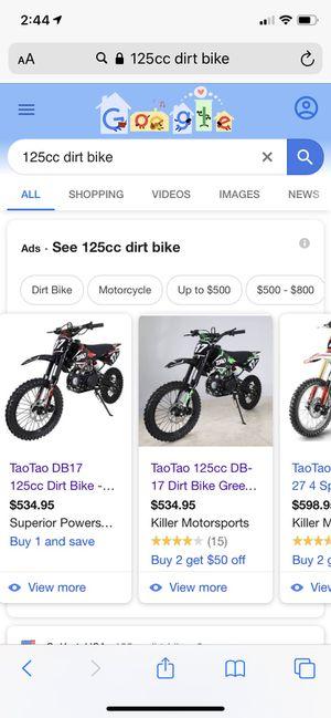 Photo I GOT $600 FOR ANY 125 dirt bike or pit bike RN!!!!!! Hit me up ASAP
