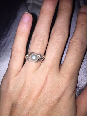 Pearl and diamond white gold engagement ring for Sale in Boaz, AL