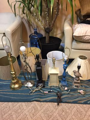 Lamps and lamp shades for Sale in Gaithersburg, MD