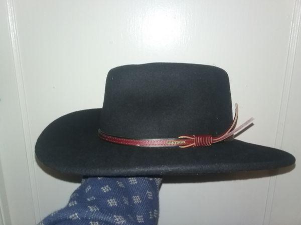 Men s Bozeman Wool Felt Crushable Cowboy Hat - Twboze-813007 Black ... d30fde4809b