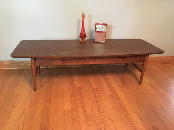 Mid Century Modern Lane Surfboard Coffee Table For Sale In Homewood