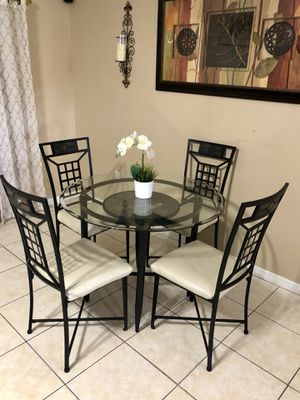 Beautiful Ashley's glass top dining set for Sale in Clermont, FL