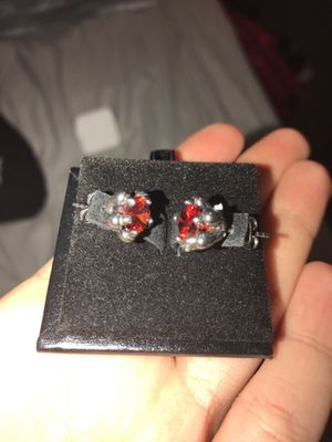 Red diamond Stud earrings for Sale in Pittsburgh, PA