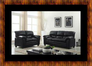 Black bonded sofa and loveseat for Sale in Fairfax, VA