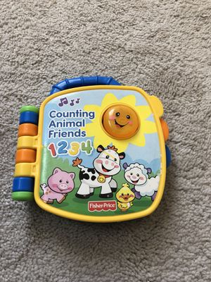 Counting animal friends book with music for Sale in Silver Spring, MD