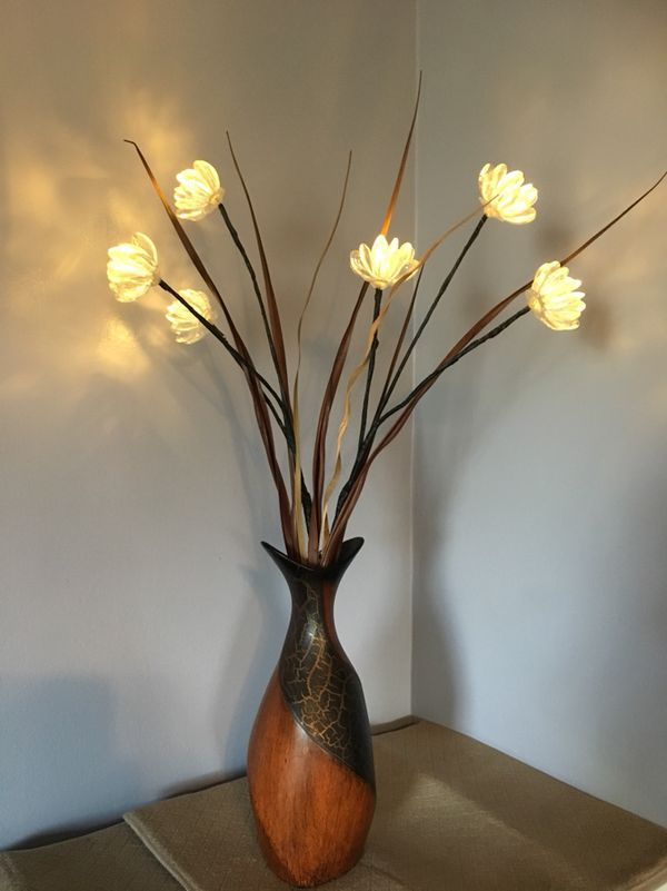 Wooden Vase Lighted Floral Accent For Sale In Beckett Ridge Oh