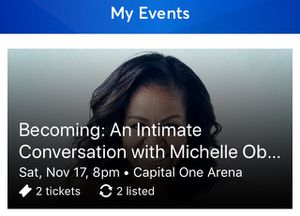 Becoming: Michelle Obama at Capital One Arena for Sale in Washington, DC