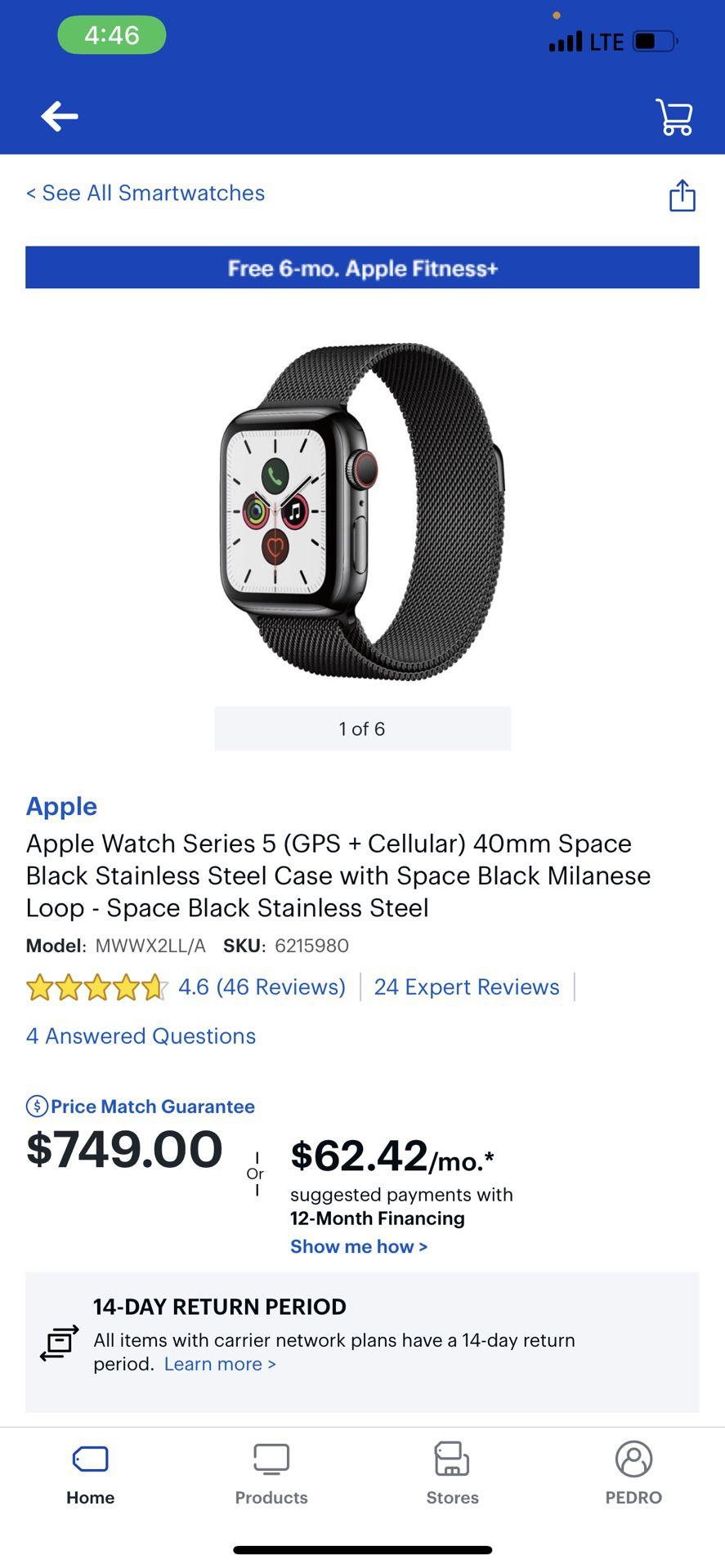 Apple Watch Series 5 (GPS+ Cellular)