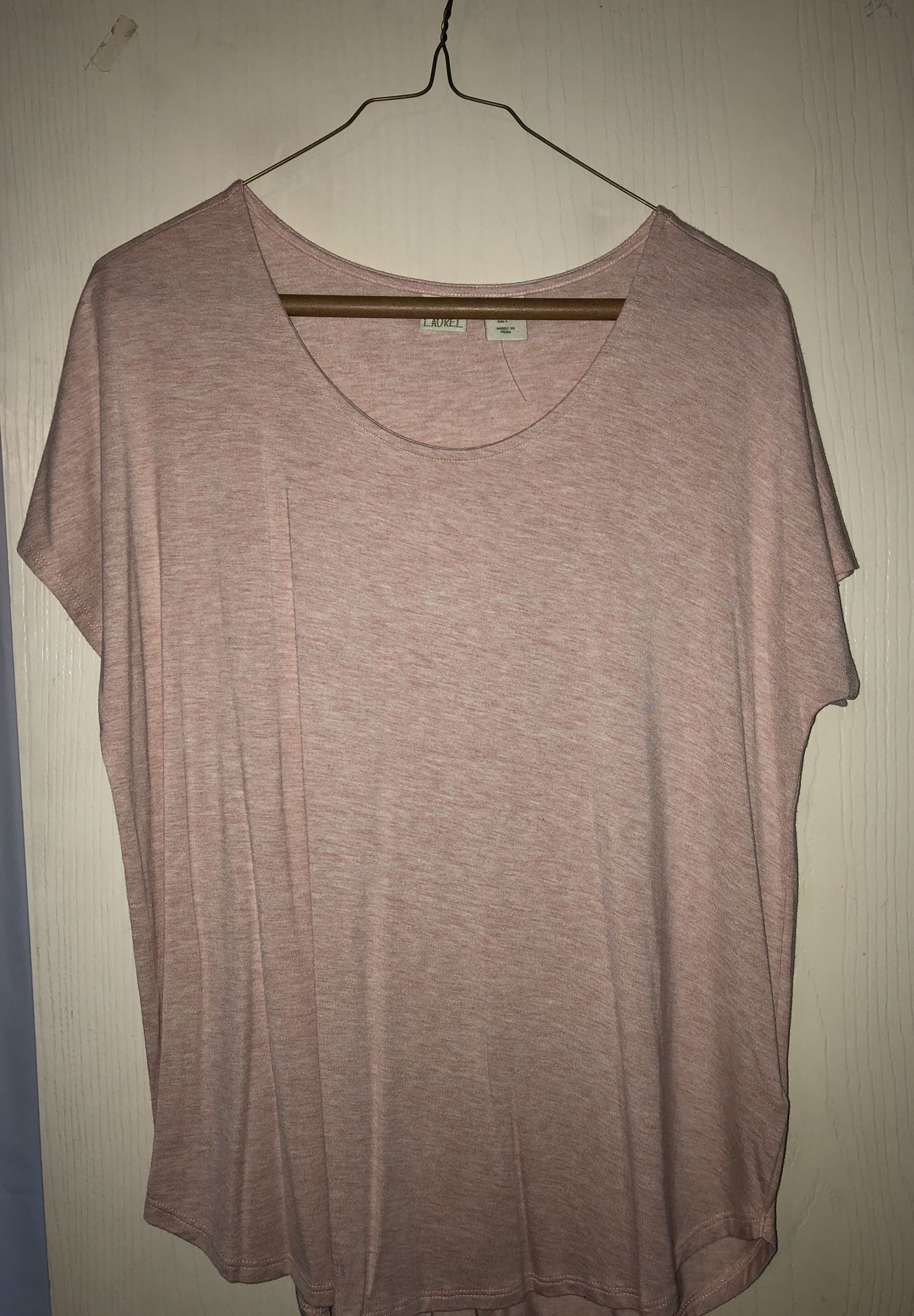 Light pink short sleeve