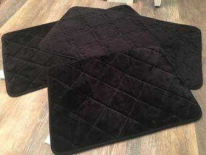 Three black padded kitchen or bath mats for Sale in Washington, DC