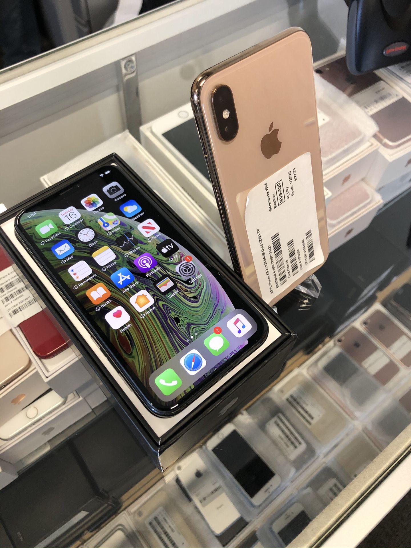 Apple iPhone XS 64GB unlocked $449-$569