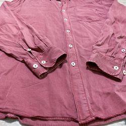 Tommy Bahama Burgundy Men Shirt Size L Thumbnail