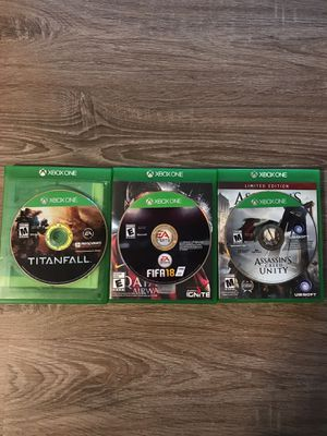 Xbox one video game (3 games) for Sale in Germantown, MD