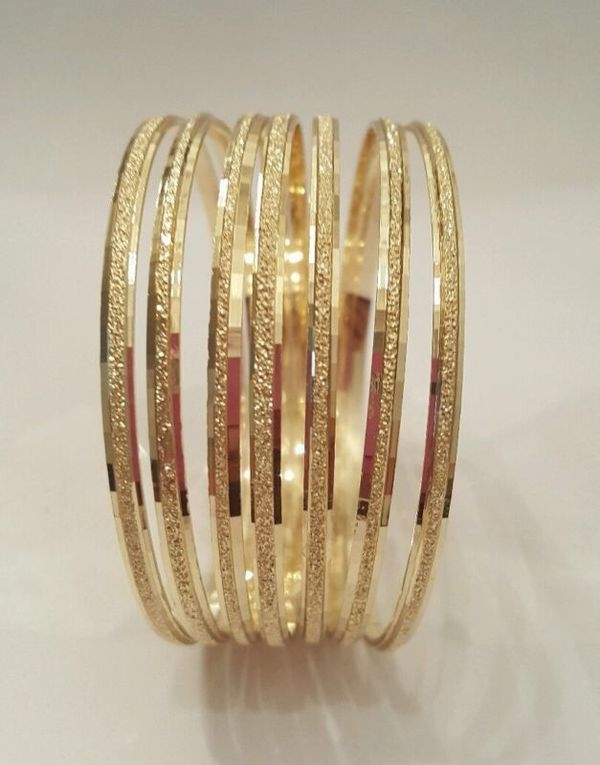 14k Gold Filled 7 Days Bangle Bracelet 3 Tone Semanario De Oro Laminado S M L Xl For In Bakersfield Ca Offerup