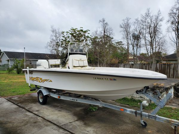 """20"""" rhino 2010 model 225hp johnson outboard .., start up once a month so runs great !!! one live bat"""