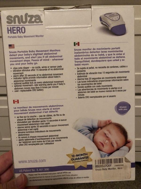 Snuza Hero Baby Movement Movement Monitor For Sale In Orchard Park
