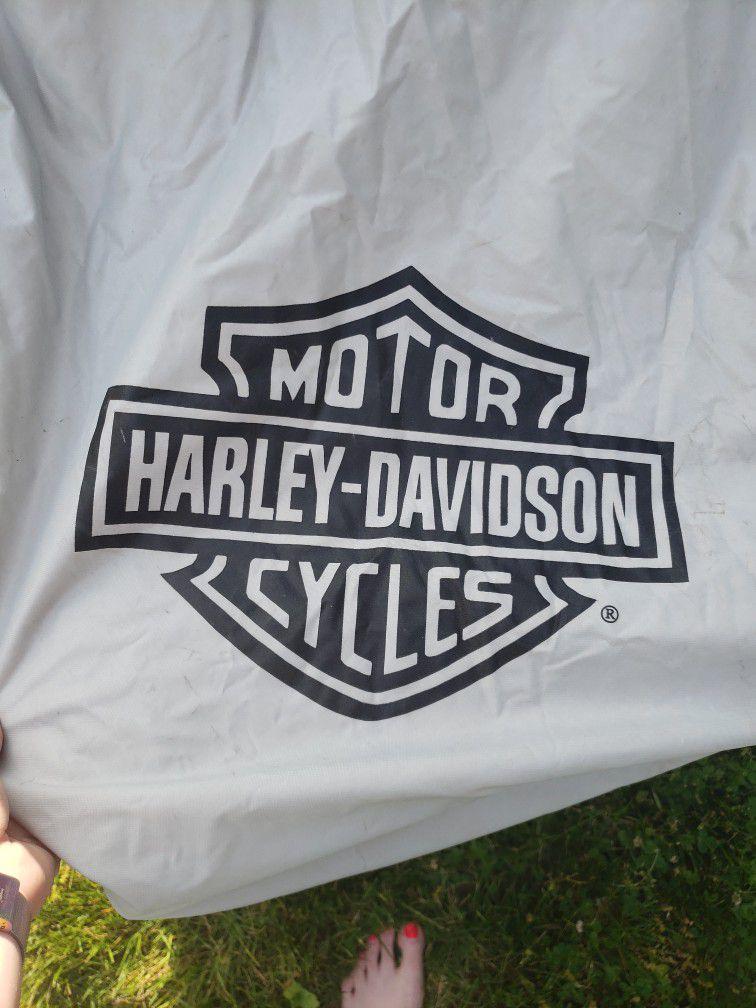 Harley Davisdon Motor Cycle Cover