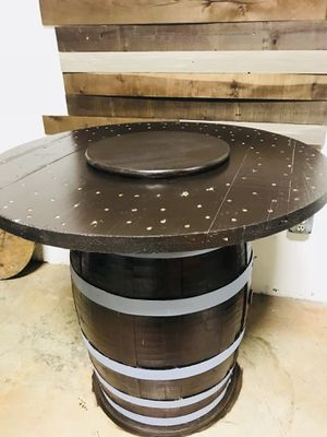 Restored Authentic Whiskey & Wine barrels with Interchangeable Tabletop for Sale in Atlanta, GA