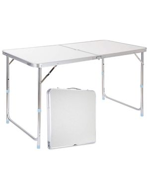 Light weight folding table with folding stools for Sale in Ellicott City, MD