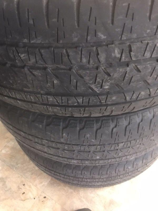 Used tires 255-55-20 Bridgestone dueler full set