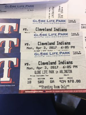 Opening day tickets for Sale in Dallas, TX