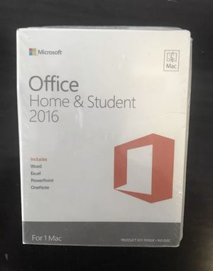 Microsoft Office Home & Student 2016 - for Mac for Sale in Washington, DC