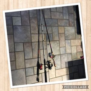 Three fishing rods , used for Sale in Plano, TX