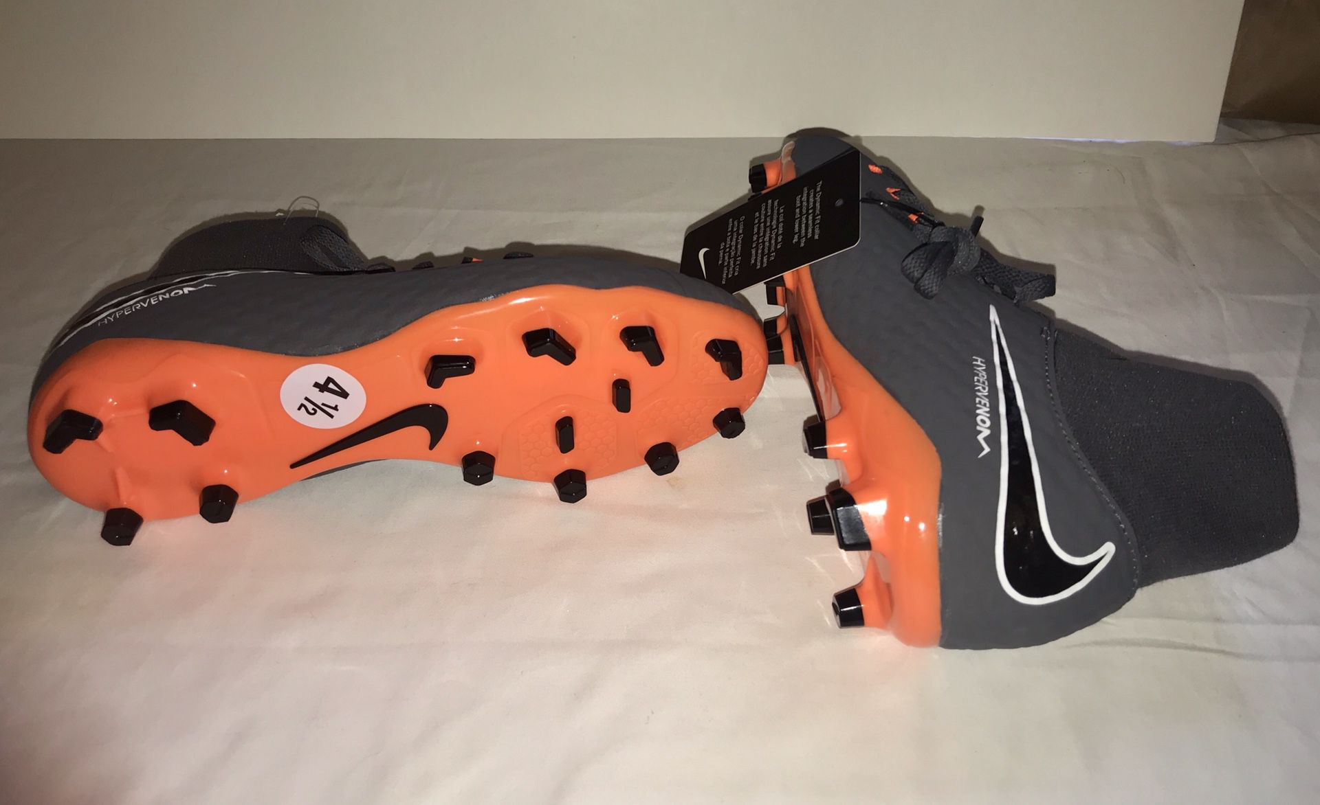 Hypervenom Nike Cleats Brand New size 4 kids