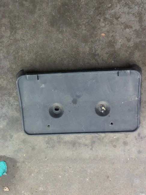 Ford Fusion Front Bumper Cover License Plate Bracket