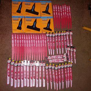60 - DIABLO DEMO DEMON SAWZALL BLADES & 6 - SPYDER SCRAPER BLADES. / 37 ARE CARBIDE TIPPED 50×sLIFE for Sale in Tacoma, WA