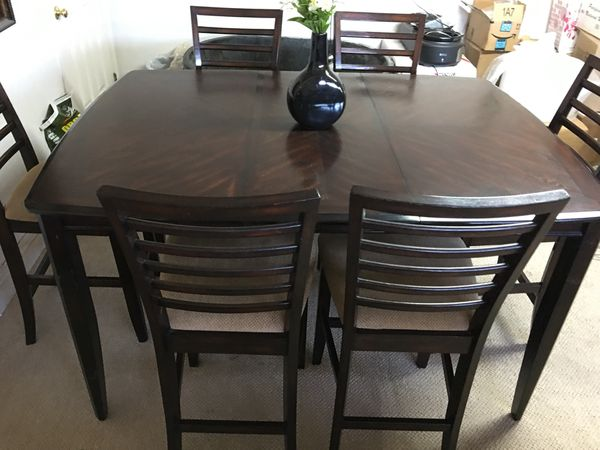 Pub table with 6 chairs furniture in peoria az offerup watchthetrailerfo