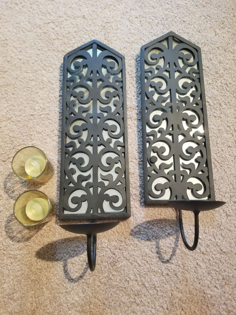 Farmstyle hanging candle holders