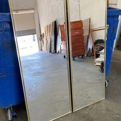 RV Dolphin Sliding Glass Mirror Closet doors Thumbnail