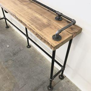 Phoenix Az Reclaimed Wood Counter Table Lenus Height Bar Modern Rustic Design Steel And Barnwood For