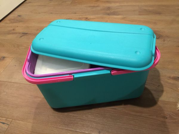 Eagle CraftStor large teal storage container for Sale in Galt CA
