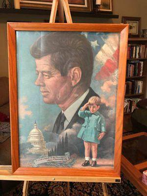 JFK salute 1964 framed Arthur Freeman print - $30 (Reston) for Sale in Oakton, VA