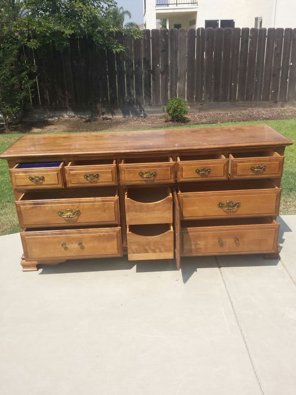 11 Drawer Dresser Cal S Maple Wood For In Clovis Ca Offerup