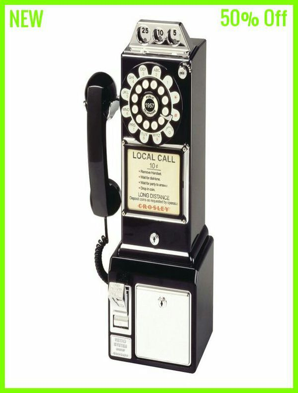 Antique Vintage 1950s Style Classic Rotary Dial Pay Phone Booth for Sale in  Columbia, SC - OfferUp