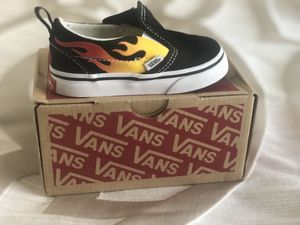 Vans Slip-on (flame) for baby for Sale in Sacramento, CA