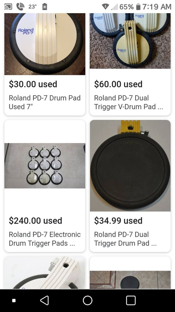 PD-7 electronic drum set comes with cable and plugs for Sale in Greenville,  TX - OfferUp