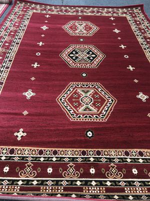 Brand new bokhara design area rug size 8x11 nice red carpet Persian style rugs and carpets for Sale in Burke, VA
