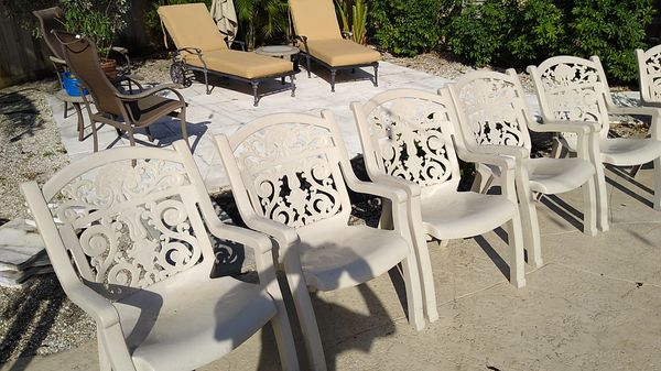 6 Syroco Patio Chairs For Sale In North Palm Beach Fl